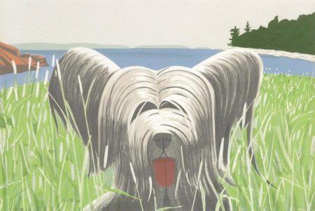 Alex Katz-Dog at Duck Trap (Maravell 81)-1975