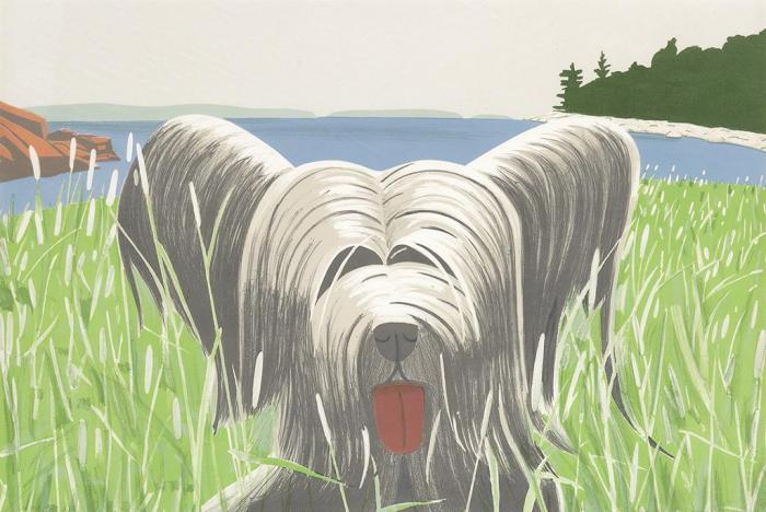 Alex Katz-Dog at Duck Trap (Maravell 81)-1975