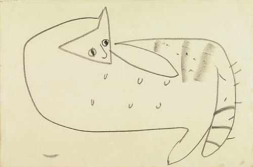 Cy Twombly-Female Cat-1955