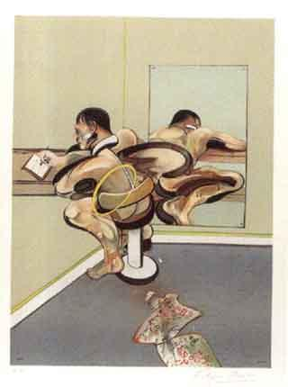 Francis Bacon-Figure Writing Reflected in a Mirror-1976