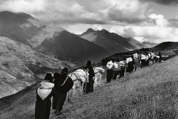 Sebastiao Salgado-Chimborazo, Ecuador (Taking Goods to Market)-1998
