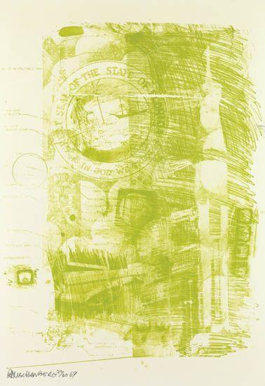 Robert Rauschenberg-Robert Rauschenberg - Marsh (From Stoned Moon series)-1969