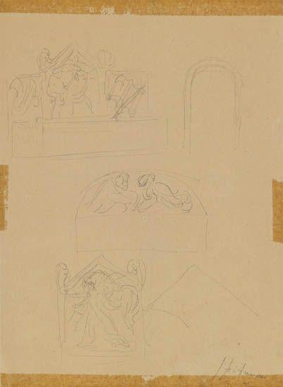 Lucio Fontana-Drawings-1941