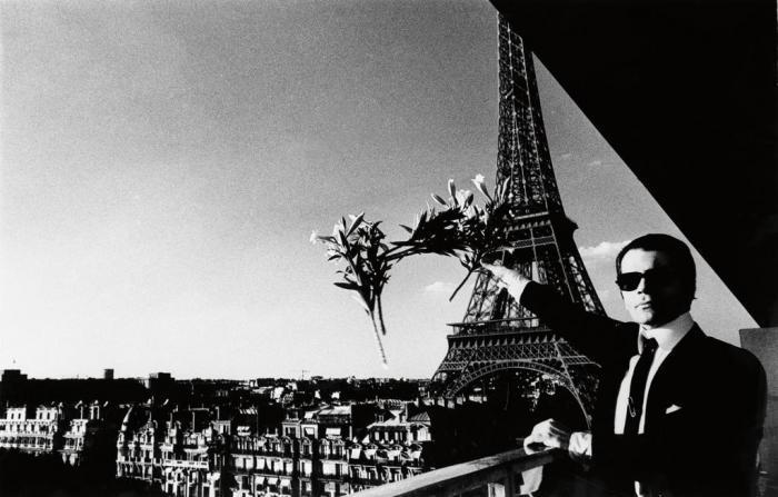 Helmut Newton-Portrait of Karl Lagerfeld in Paris-1976