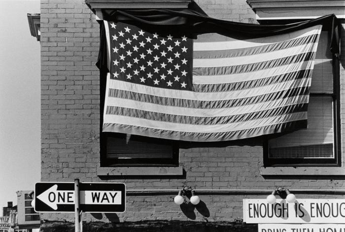 Robert Rauschenberg-Robert Rauschenberg - American Flag, Enough is Enough-1980