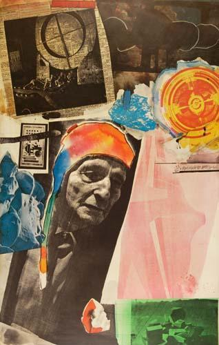 Robert Rauschenberg-Robert Rauschenberg - Homage to Frederick Kielser-1967