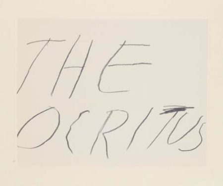 Cy Twombly-Theocritus-1978