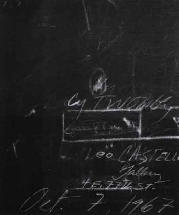 Cy Twombly-Leo Castelli Gallery Announcement Design-1967