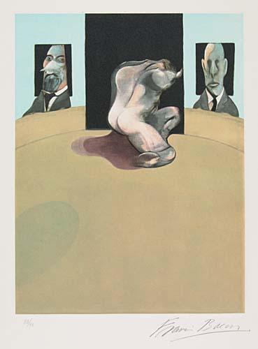 Francis Bacon-Metropolitan Triptych (Torso)-1977