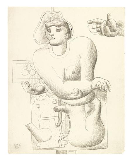 Le Corbusier-Buste de Femme et Nature Morte-1930