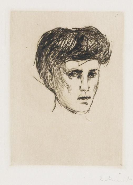 Edvard Munch-Kvinnehode (Schiefler 259; Woll 288)-1907