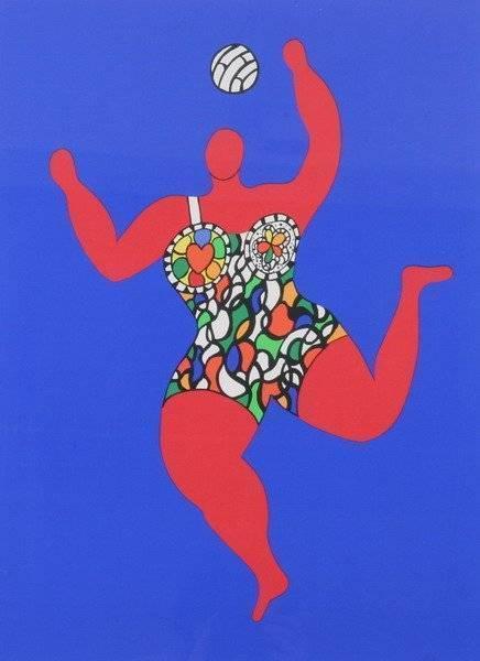 Niki de Saint Phalle-Volleyball, (Nana)-