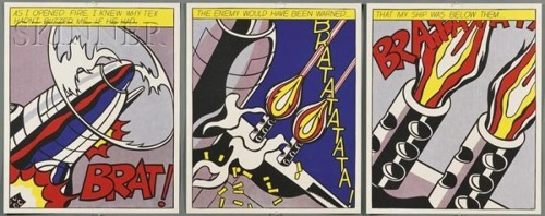Roy Lichtenstein-As I Opened Firee-1966