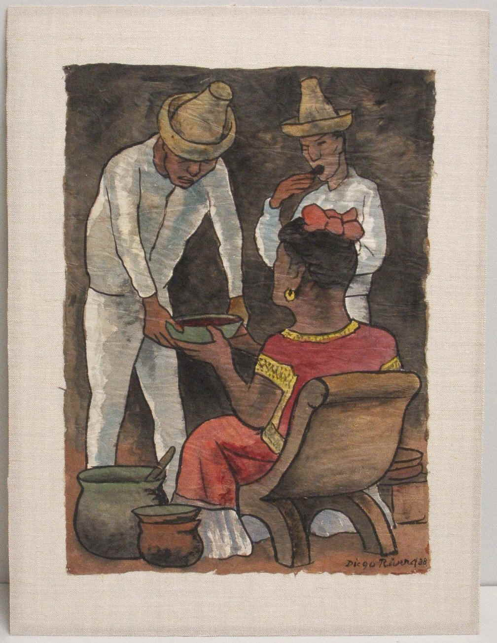 Diego Rivera-Vendedora de Pozole-1938