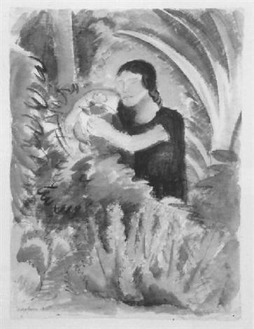 Diego Rivera-Girl in a Garden-1928