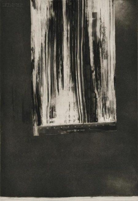 Jasper Johns-Untitled (Ruler) II Field 126-1969