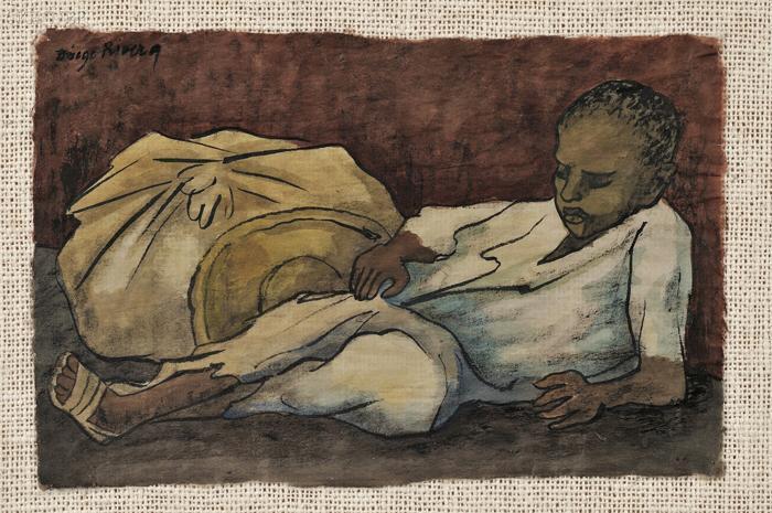Diego Rivera-Nino recostado con bulto, S.F-