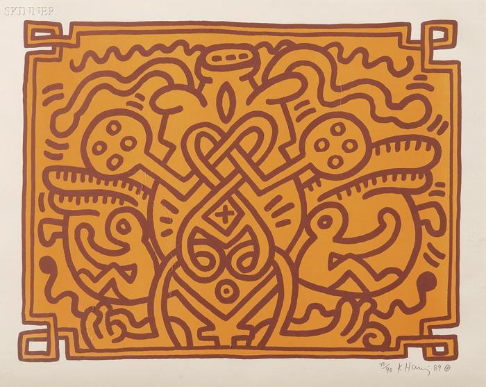 Keith Haring-Keith Haring - Chocolate Buddha 4-1989