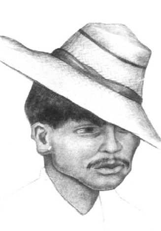 Diego Rivera-Man in a Straw Hat-