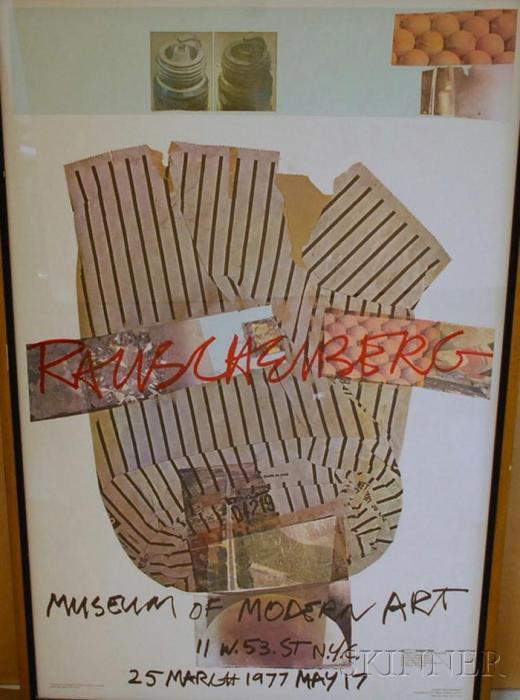Robert Rauschenberg-Robert Rauschenberg - Museum of Modern Art Exhibition Poster, March 25-May 17,1977-1977