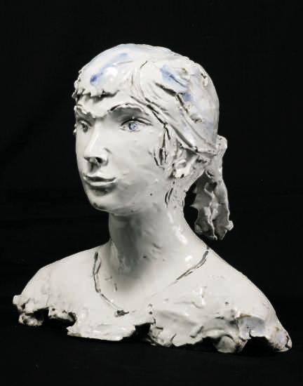 Lucio Fontana-Busto di fanciulla-