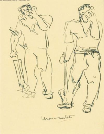 Lucio Fontana-Uomo sudato-1947