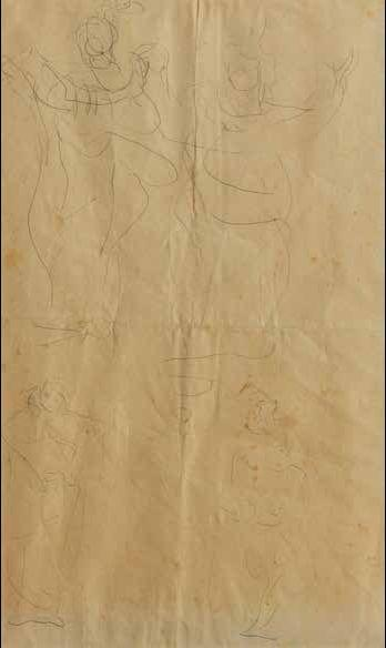 Lucio Fontana-Studi per scultura-