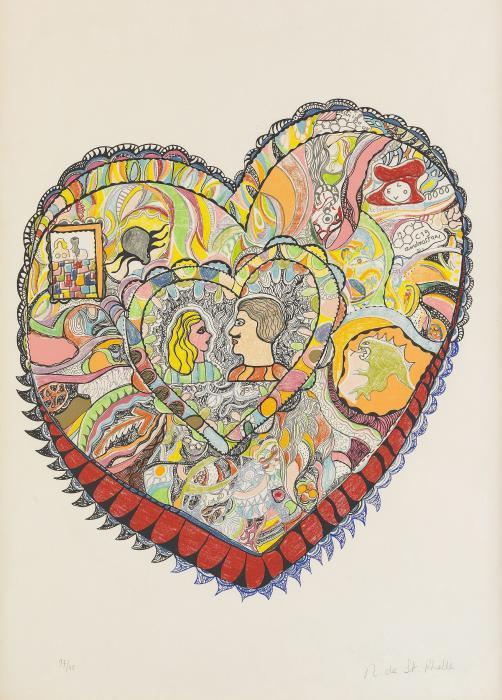 Niki de Saint Phalle-Couple, (Ohne Titel)-1970