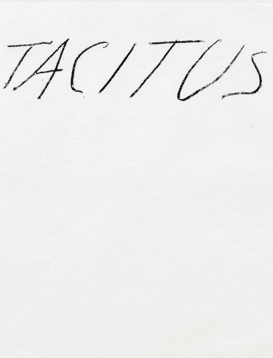 Cy Twombly-Six Latin Writers and Poets: Tacitus-1976