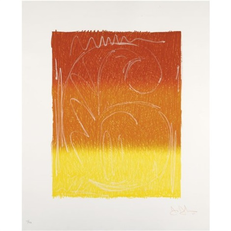 Jasper Johns-Color Numerals: Figure 6-1969