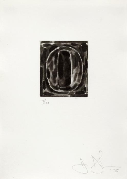 Jasper Johns-A set of Ten Numerals: Figure 0-1975
