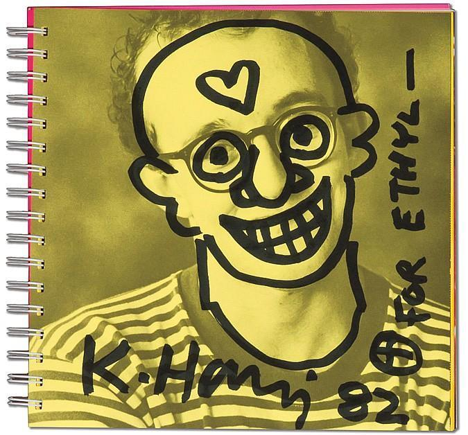 Keith Haring-Keith Haring - Self Portrait, for Ethyl-1982