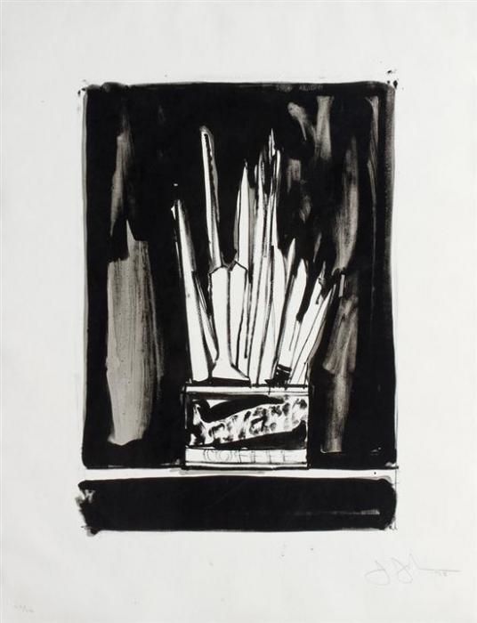 Jasper Johns-Savarin 2, Wash and Line (ULAE 192)-1978