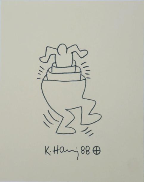 Keith Haring-Keith Haring - Pants man-1988