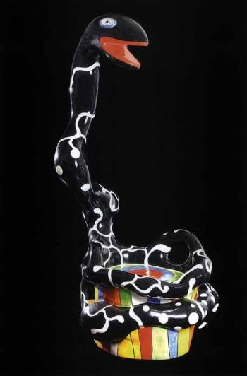 Niki de Saint Phalle-Pouf serpent, (Pouf serpent noir), (Serpent chair)-1991