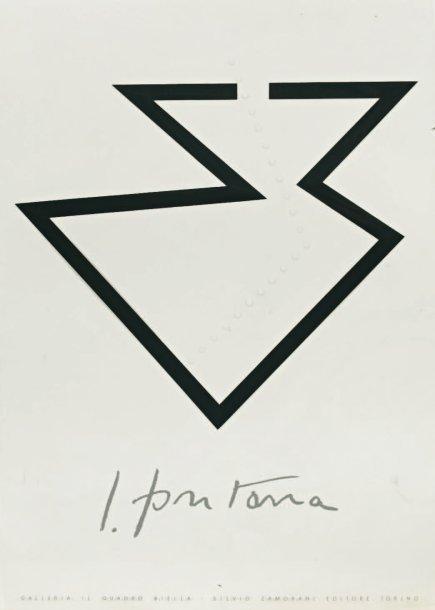 Lucio Fontana-Affiche pour la Galleria il Quadro Biella-