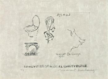 Marcel Duchamp-Rebus: Tout a l'egout sont dans la nature-1961