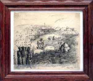 Alex Katz-Village Sketch-1949