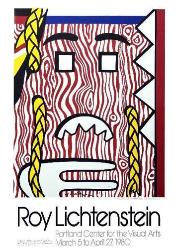 Roy Lichtenstein-Head with Braids Poster-1980