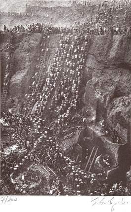 Sebastiao Salgado-Mine dor de la Serra Pelada, Bresil / Brasil (Serra Pelada Gold Mine, Figure Eight)-1986