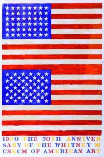 Jasper Johns-The Double Flag-1980