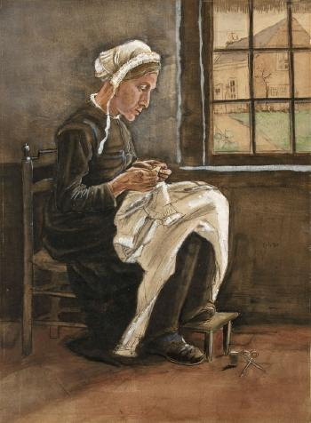 Vincent van Gogh-Die naherin beim Fenster-1881