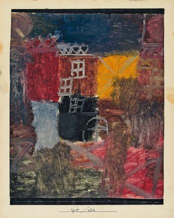Paul Klee-Vorstadt-Hof-1915
