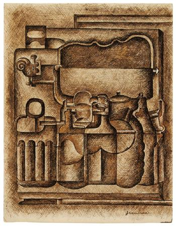 Le Corbusier-Bouteilles et objets-1920