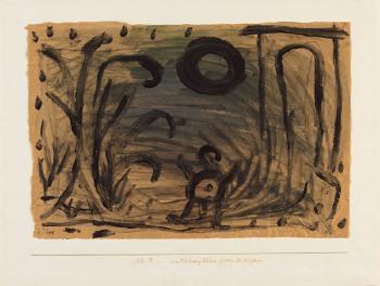 Paul Klee-Ein Vorhang - Schloss Geht Nachts Spazieren-1938