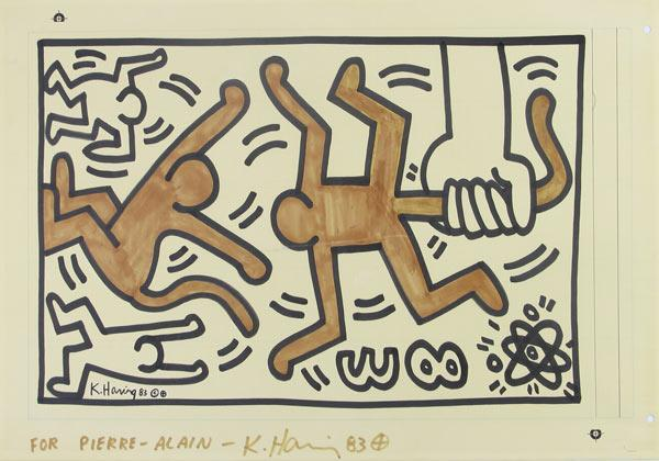 Keith Haring-Keith Haring - Two Apes-1983