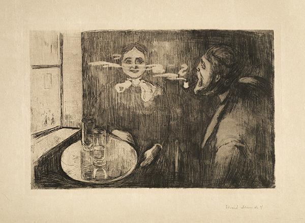 Edvard Munch-Tete-a-tete (Schiefler 12; Woll 9)-1894