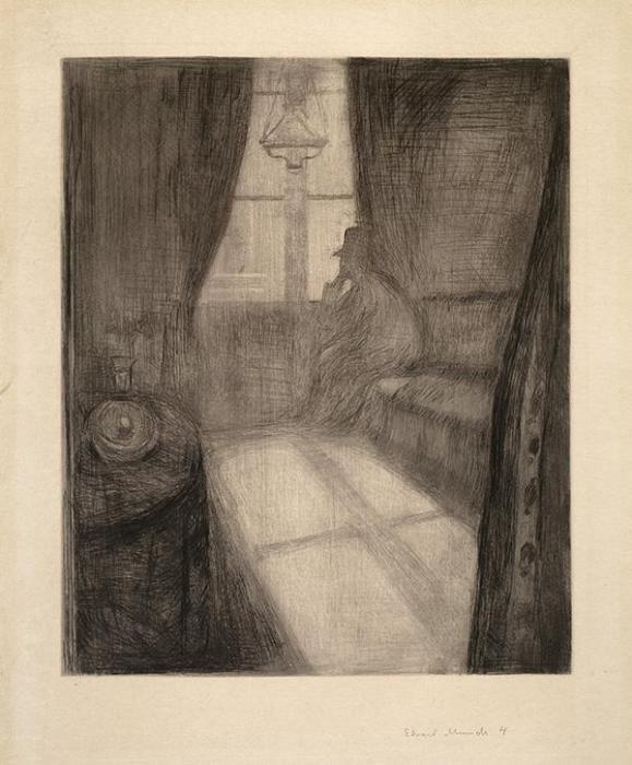 Edvard Munch-Maneskinn, Natt i Saint-Cloud / Moonlight, Night in Saint-Cloud / Mondschein, Nacht in Saint-Cloud-1895