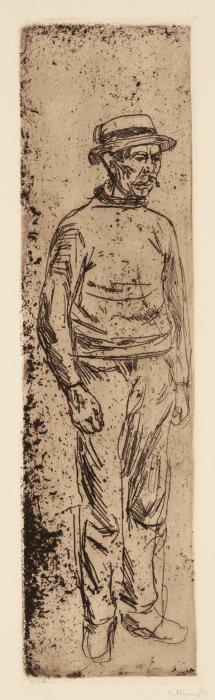 Edvard Munch-Arbeiter-1902