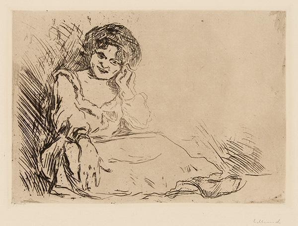 Edvard Munch-Amanda - Junges Madchen auf Bett sitzend-1904